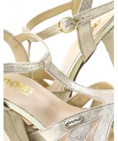 Sandálias Douradas de Senhora Elegantes Ginova