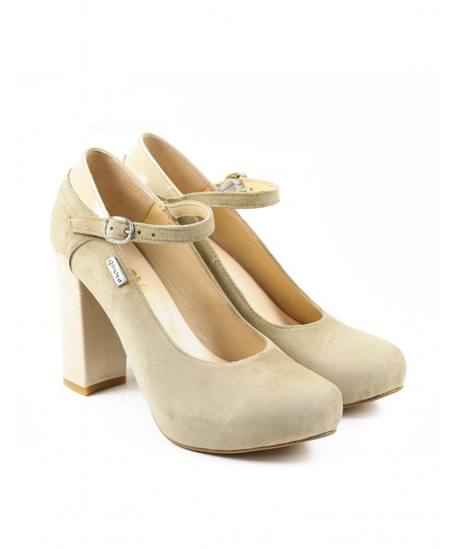 Sapatos Femininos em Verniz e Camurça Ginova
