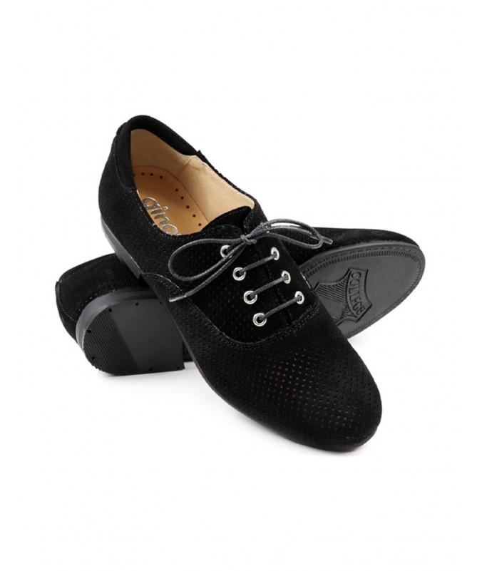 Sapatos de Senhora Ginova Pretos com Atacadores