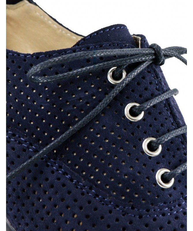Sapatos de Senhora Ginova Azuis com Atacadores