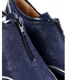Sapatilhas de Senhora Azuis com Fecho na Frente Ginova