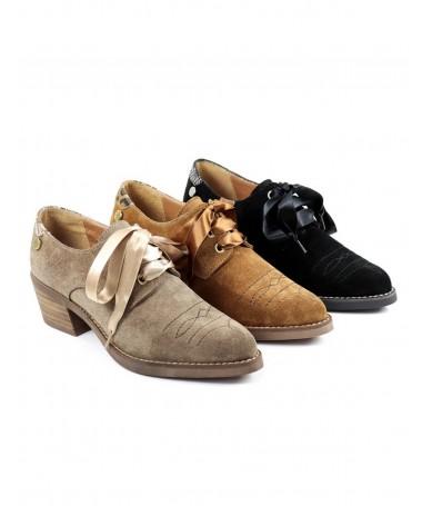 Sapatos de Senhora Texana com Laço de Cetim Ginova