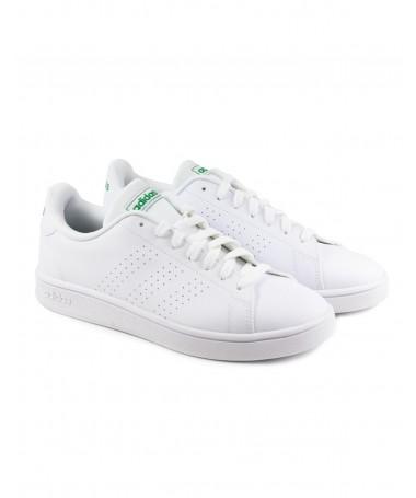 Ténis Branco com Riscas Perfuradas Adidas