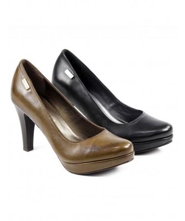 Sapatos de Salto Alto Ginova em Pele