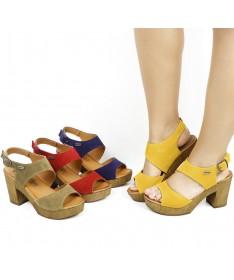 Sandálias de Senhora Compensadas Ginova
