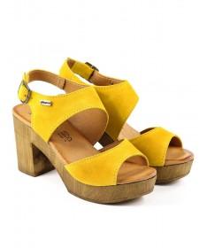 Sandálias Amarelas de Senhora Compensadas Ginova