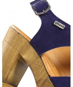Sandálias Azuis de Senhora Compensadas Ginova