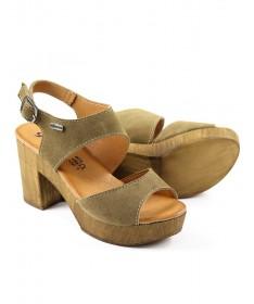 Sandálias Taupe de Senhora Compensadas Ginova