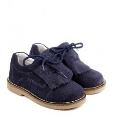 Sapatos Azuis de Criança com Franjas e Atacadores