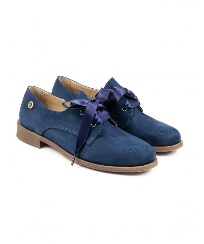 Sapatos de Senhora Ginova Azuis tipo Oxford