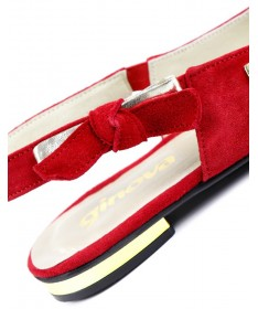 Sandálias Vermelhas Rasas de Mulher Ginova