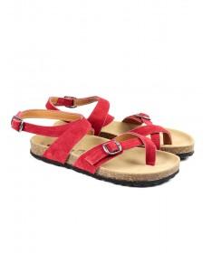 Sandálias Vermelhas Femininas Ginova com Palmilha Anatómica