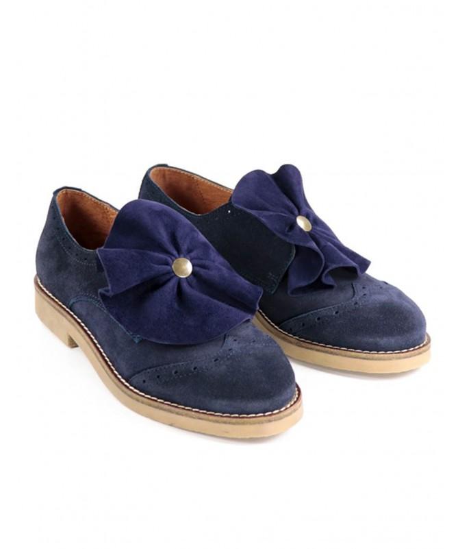 Sapato Azuis de Senhora Ginova Tipo Oxford
