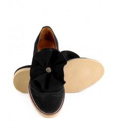 Sapatos Pretos de Senhora Ginova Tipo Oxford