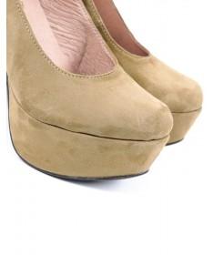 Sapatos de Senhora Compensados Taupe Ginova