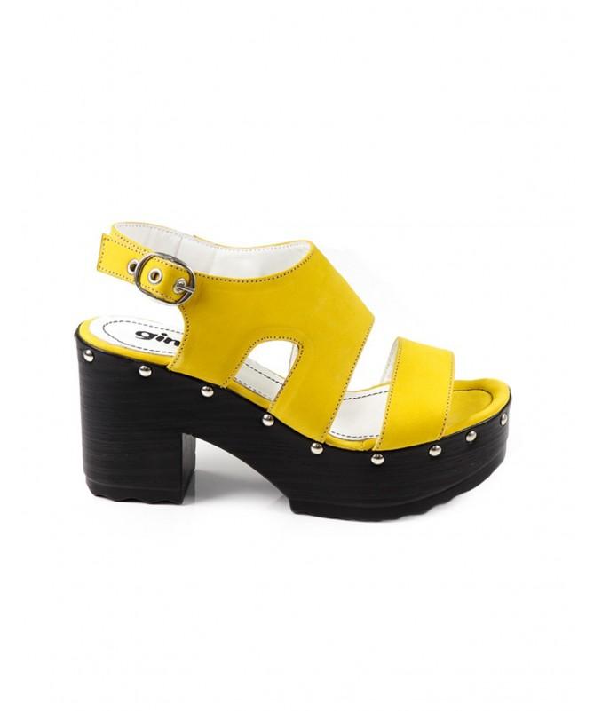 Sandálias de Senhora Ginova Compensadas