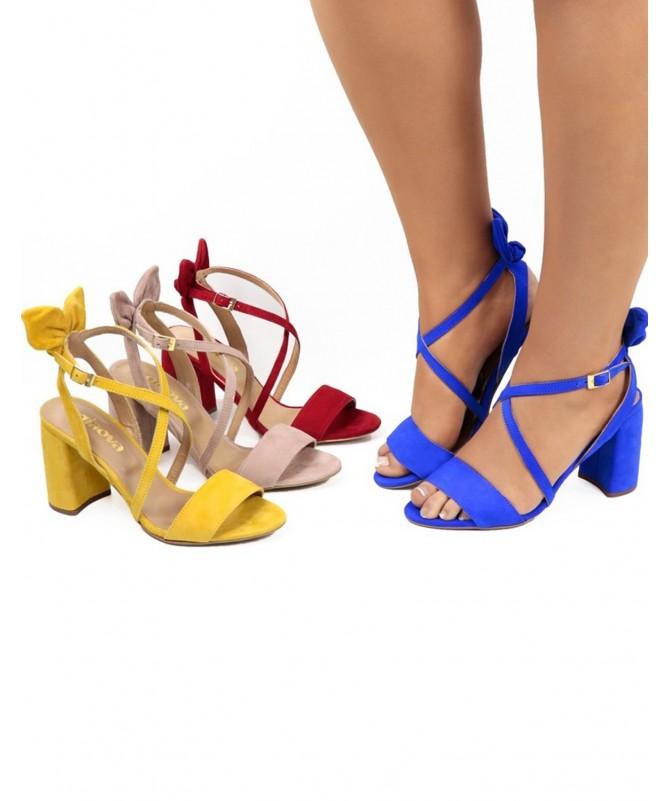 Sandálias de Senhora com Laço Atrás e Tiras Ginova