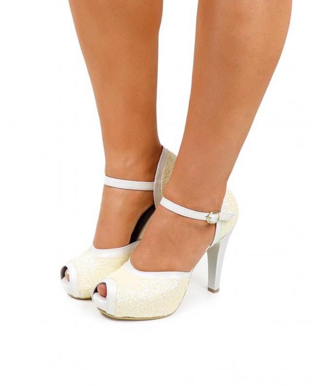 Sapatos de Senhora Ginova com Glitter de Cerimônia