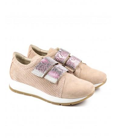 Sapato Desportivo de Senhora Rosa Ginova com Fecho Velcro