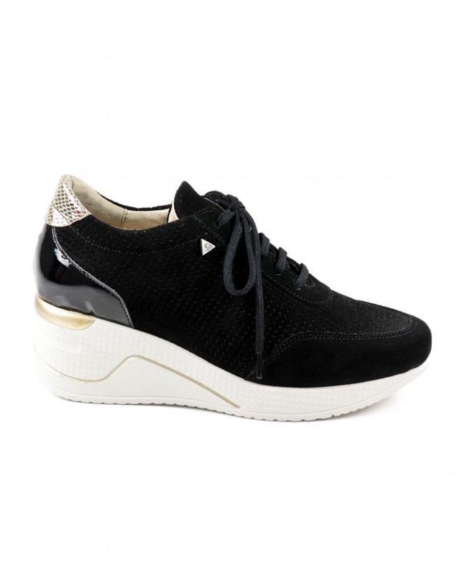 Sapato Desportivo Pretos de Senhora com Atacadores