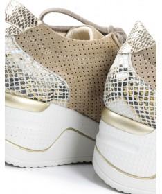 Sapato Desportivo Taupe de Senhora com Atacadores