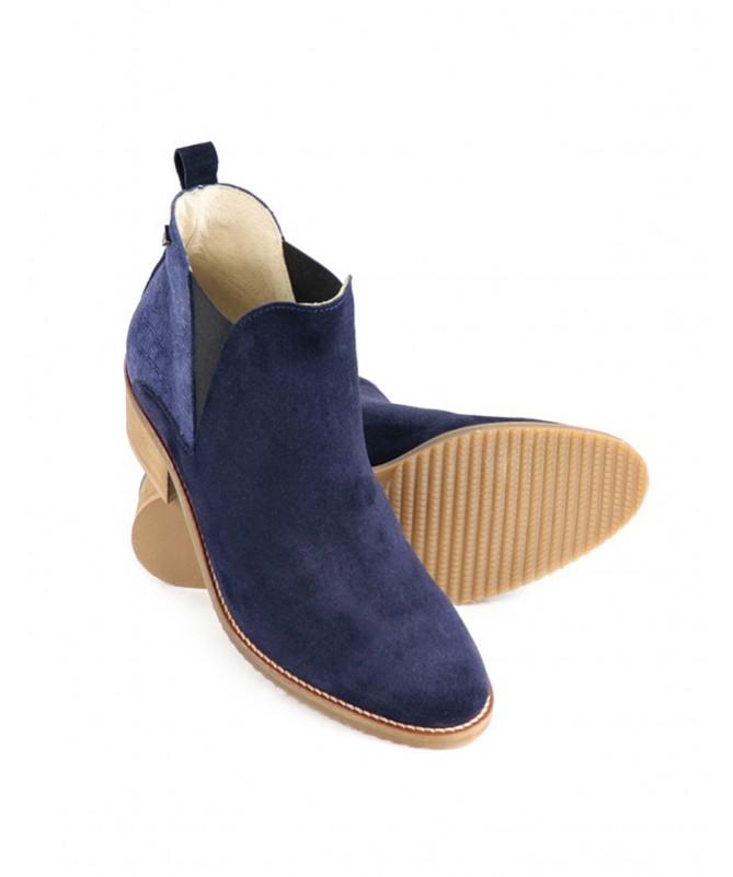 Botas Azuis de Senhora Ginova com Elásticos Laterais