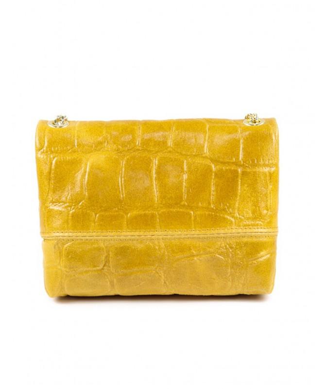 Mala Amarelo de Senhora em Pele Pequena