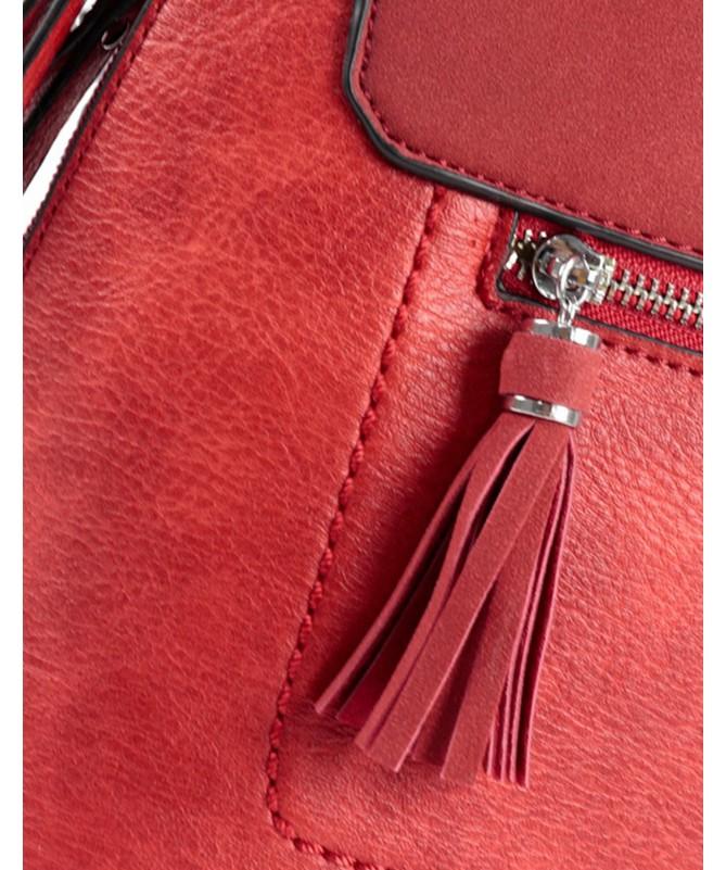Mochila Vermelha de Senhora com Berloque