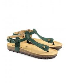 Sandálias Rasas de Senhora Anatómicas Ginova Verdes