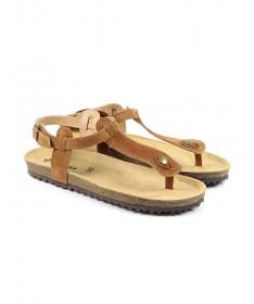 Sandálias Rasas de Senhora Anatómicas Ginova Camel