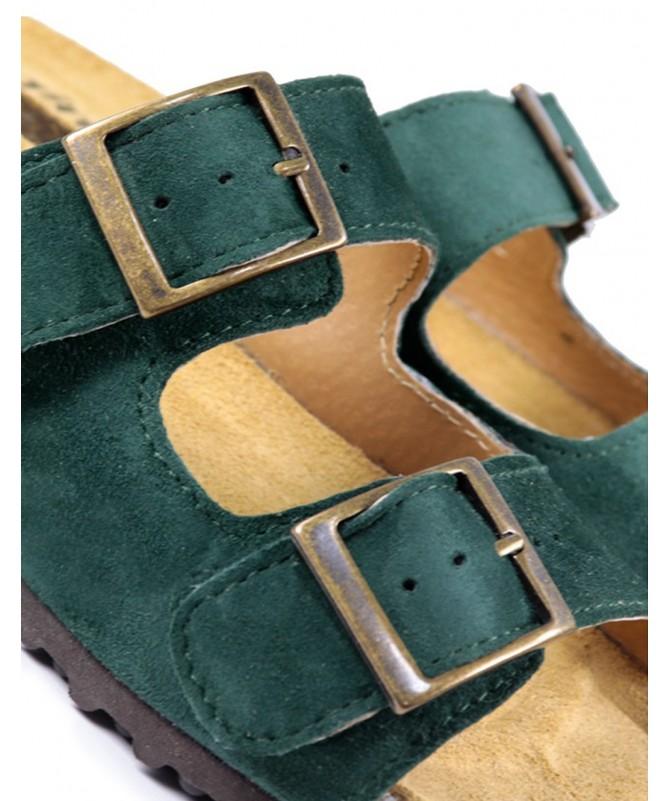 Chinelos de Senhora Ginova Verdes com Palmilha Anatómica e Fivelas