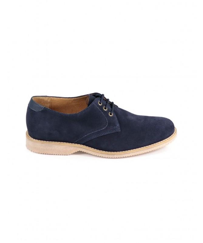 Sapatos de Homem em Camurça Azul com Atacadores Ginova