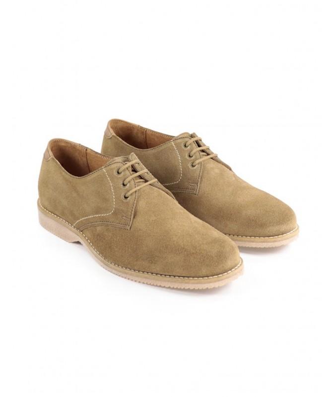 Sapatos de Homem em Camurça Taupe com Atacadores Ginova