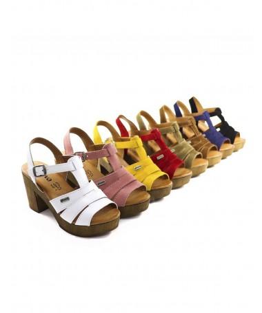 Sandálias de Senhora Compensadas de Tiras Ginova