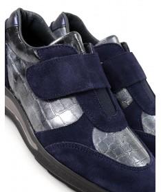 Sapatilhas Azuis Femininas Ginova com Velcro