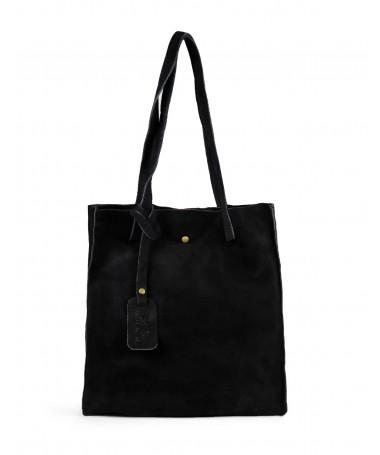 Mala Tote Bag Feminina Preta em Pele