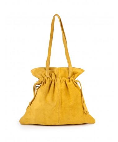 Mala Amarela Tipo Saco de Mulher