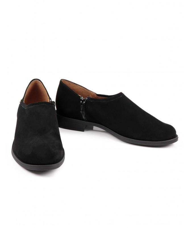 Sapato Preto Raso Ginova com Fecho