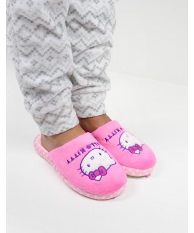 Chinelos de Quarto de Senhora Hello Kitty