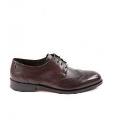 Sapatos Castanhos de Homem em Pele