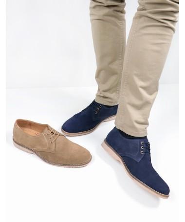 Sapatos de Homem em Camurça com Atacadores Ginova