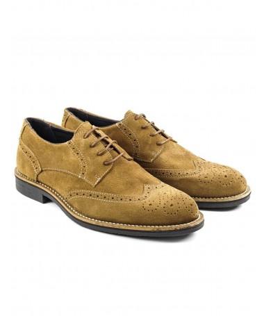 Sapatos Camel Oxford de Homem em Camurça
