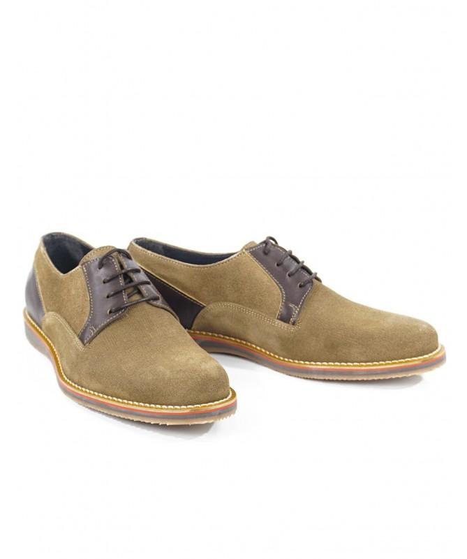 Sapatos Beje de Homem Casuais de Atacadores