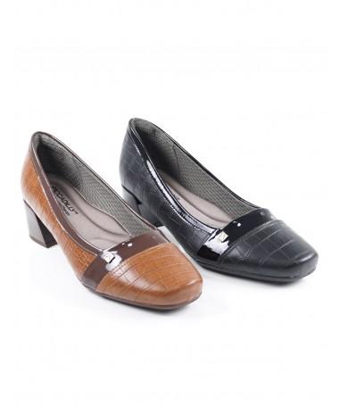 Sapato de Senhora Piccadilly de Salto Médio