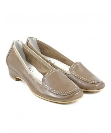Sapatos Taupe de Mulher com Costuras