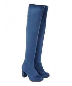 Botas Azuis Femininas Elegantes em Lycra