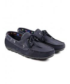 Sapatos de Vela de Homem Ginova Azul com Sola Antiderrapante