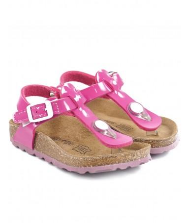 Sandálias Rosa Fuxia de Criança Envernizadas