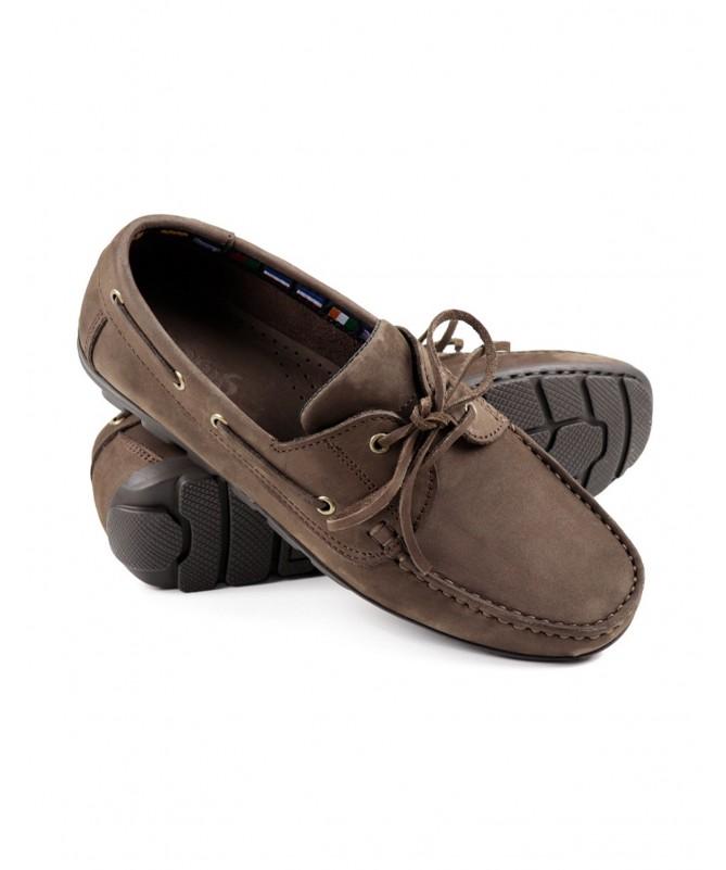 Sapatos de Vela de Homem Ginova Castanho com Sola Antiderrapante