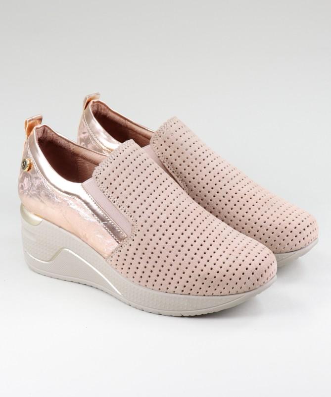 Sapatos Rosa de Mulher Ginova de Elástico
